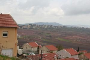 Metulla Israel looking into Kfar Kila, Lebanon